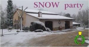 Una nevicata nelle colline del Chianti arriva anche a Casalvento