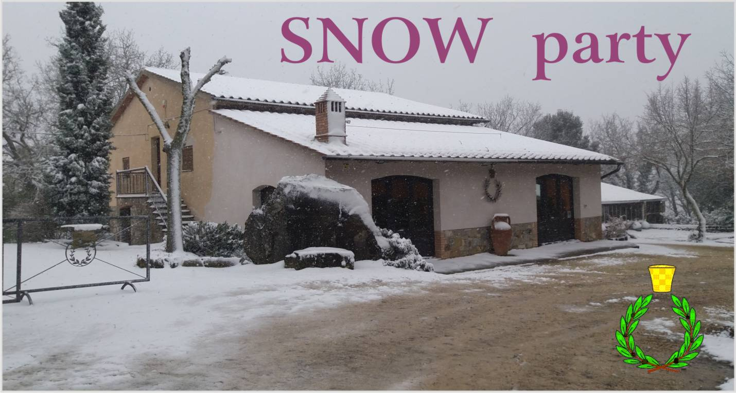 A snowfall in the Chianti hills also reaches Casalvento