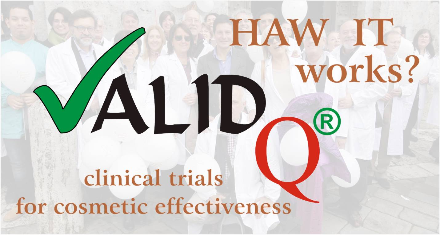 The clinical trials supporting the cosmetics are called Valid Q