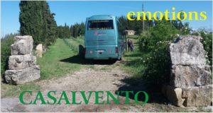 A bus of tourists visiting Casalvento
